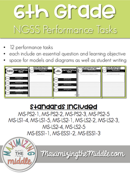 Full Year 6th Grade NGSS Aligned Performance Task