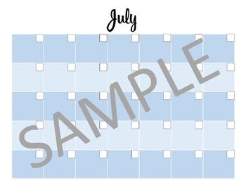 Full Year BLANK Reusable Calendar