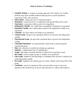 Full Year Biology Vocab and Definitions