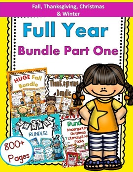 Full Year Bundle Part One! Fall, Thanksgiving, Christmas, Winter BUNDLES