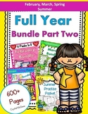 Full Year Bundle Part Two! February, March, Spring BUNDLES (Plus Summer Pack)