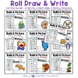 Build A Picture Math Art Writing - Roll Draw Write Full Year Bundle 10 Sets