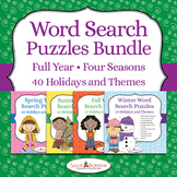 Word Search Puzzles Bundle - A Full Year of 40 Holidays and Themes!