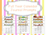 Full Year Editable Calendar Journal Prompts Bundle