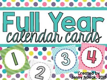 Full Year Calendar Cards Bundle