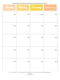 Full Year Calendar - Planner Printable