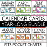 Pocket Chart Calendar Cards BUNDLE - Full Year Classroom Calendar Set