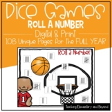 Full Year Dice Games: Roll a Number for Distance Learning