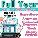 Essay Writing Bundle (FULL YEAR): Analysis, Argumentative, Expository, & MORE