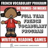 French Vocabulary Program BUNDLE - Mots de la Semaine - Di
