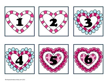 Full Year Heart Themed Pocket Chart Calendar Card Collection