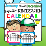 Full Year Interactive Promethean Calendar - for Kindergarten