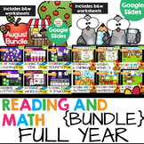 Full Year Kindergarten Math and Reading Practice Google Sl