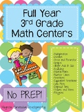 Full Year Math Centers Third Grade- NO PREP!