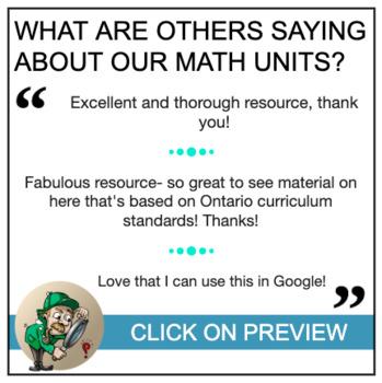 Grade 8 - Patterning and Algebra: All Units