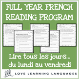 French Reading Program - Full Year - Distance Learning
