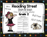 Full Year Skim and Scan Comprehension Reading Street - Grade 2  2011 Version