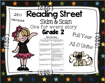 Full Year Skim and Scan Comprehension Reading Street - Gra