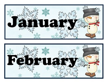 Full Year Snowflakes Calendar Collection