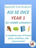 Middle School Spanish Curriculum Year 1 (Así se dice) (w/o workbook)