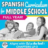 Middle School Spanish Curriculum Year 1 + Workbook  (Así se dice)