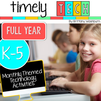 Full Year Timely Tech Computer Lab Activities Bundle