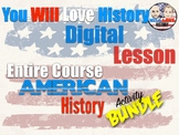 Full Year U.S. History Course Digital Activity Bundle (Activities Only)