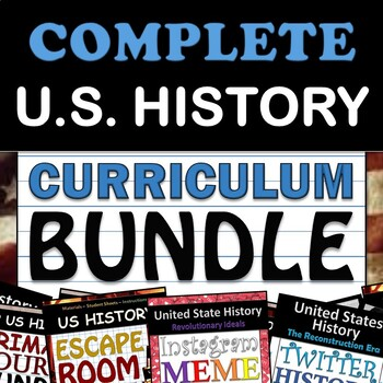 U.S. History Curriculum - American History Curriculum - 11th Grade, Updated 2019