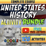 Full Year U.S. History Course Activity Bundle (Activities Only)