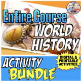 Full Year World History   Distance Learning   Activity Bundle