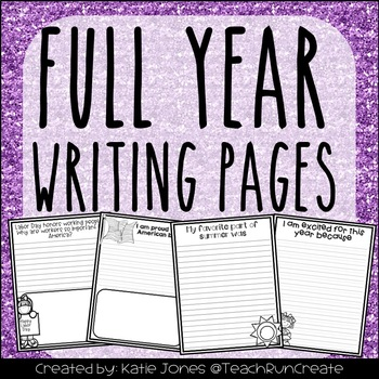 Full Year Writing Pages Bundle // Distance Learning