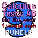 Full Year: 9 Calc AB Tests - ONE VERSION EACH (discounted bundle)