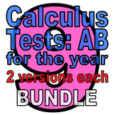Full Year: 9 Calc AB Tests - TWO VERSIONS EACH (discounted bundle)