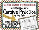 Full Year of Bible Verse Handwriting Cursive Practice: 3rd Grade