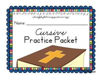 Full Year of Bible Verse Handwriting Cursive Practice: 4th ...