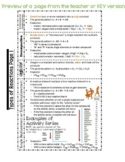Full Year of Chemistry Notes for Interactive Notebook or Binder