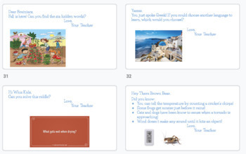 Full Year of FUN Morning Messages Slides!