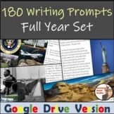 Full Year of Writing Prompts - 180 Bell Ringers - ELA or S