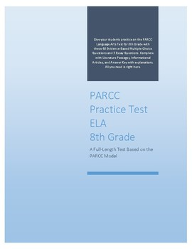 Full-length PARCC ELA Practice Test for 8th Grade Common Core CCSS