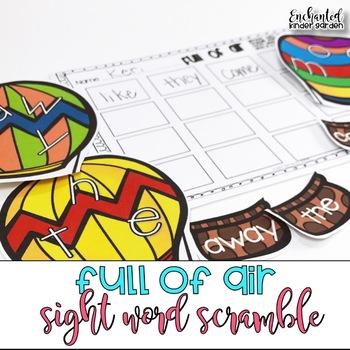 Full of Air: Sight Word Scramble