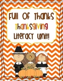 Full of Thanks- A Thanksgiving Literacy Unit