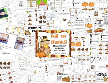 Full of Thanks (centers and activity pack)