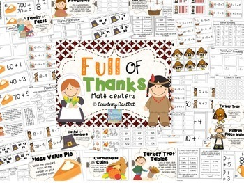 Full of Thanks literacy and math bundle