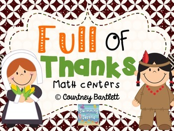 Full of Thanks math centers
