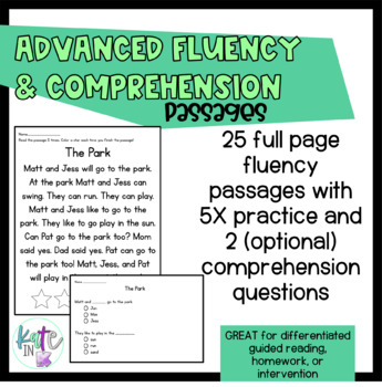 Full page 5X Fluency and Comprehension practice