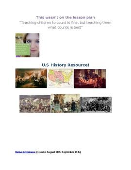 Full set of Unit Plans bundle!  U.S. History (Year long!)