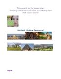 Full set of Unit plans bundle! Ancient World History! (Yea