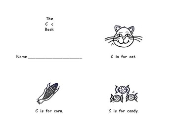 Full set reproducible little letter books (ID, formation, sound) B,C, D,F, & G