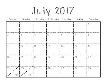 Full year 2017-2018 School Calendar