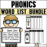 Phonics Word Lists and Placards (Year Long Bundle)